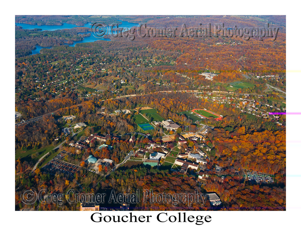 Aerial Photo of Goucher College - Towson, Maryland