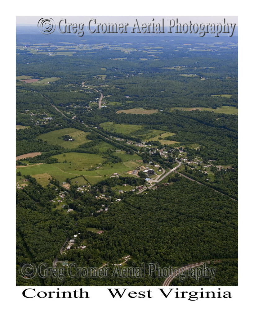 Aerial Photo of Corinth, West Virginia