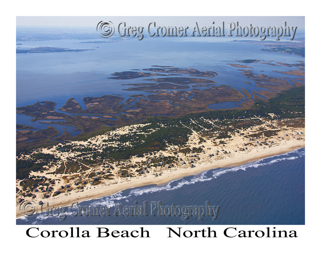 Aerial Photo of Corolla Beach, North Carolina
