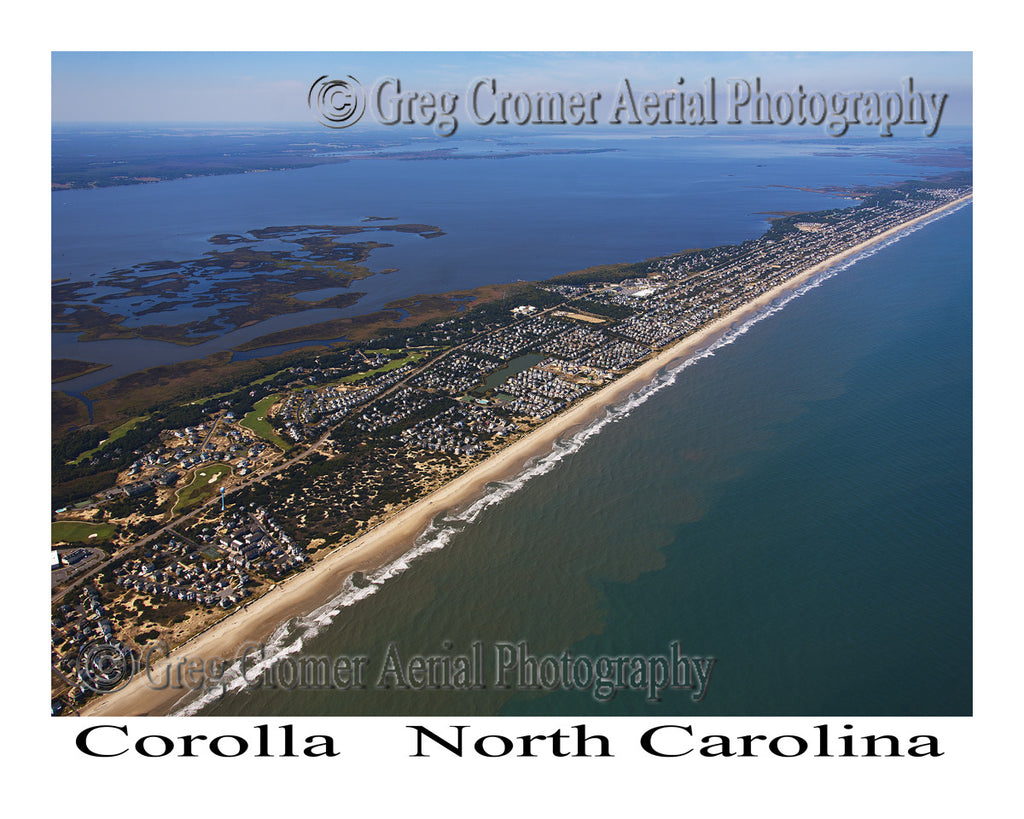 Aerial Photo of Corolla, North Carolina