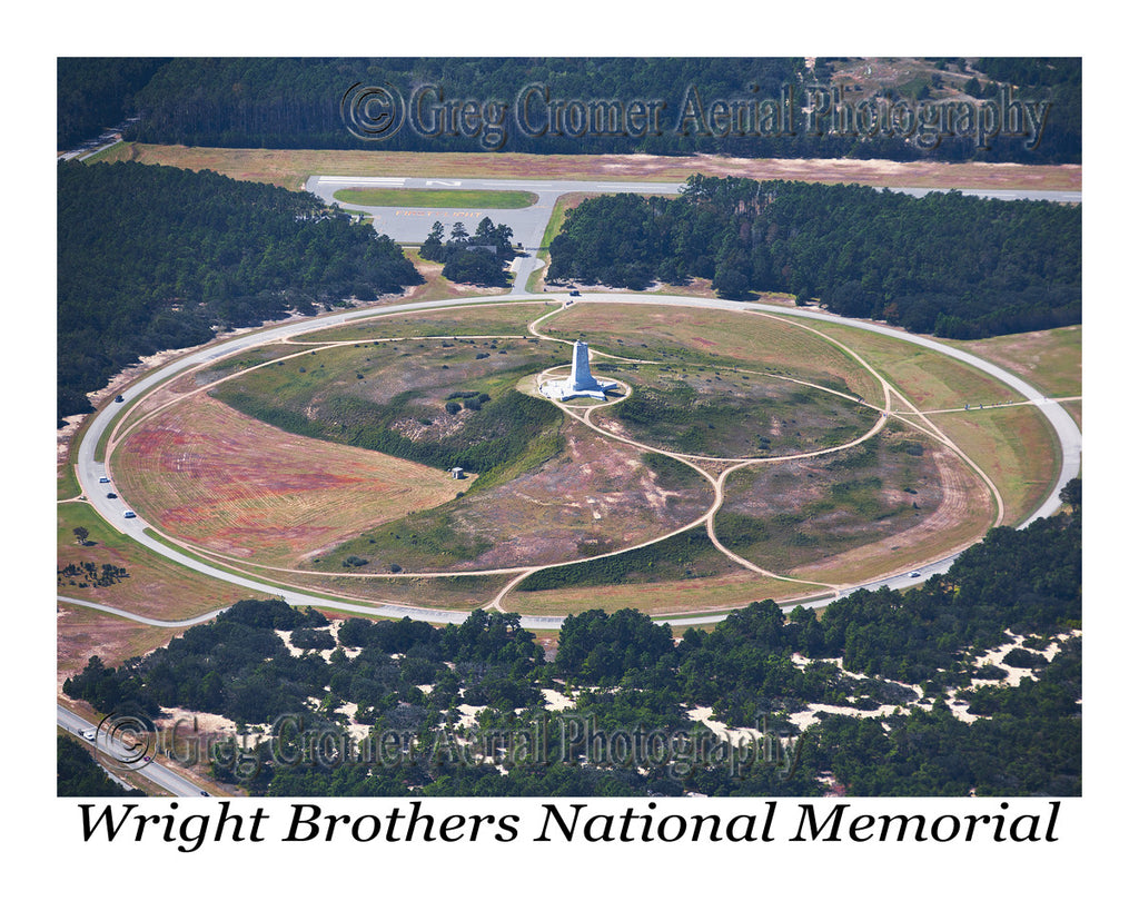 Aerial Photo of First Flight - Wright Brothers Memorial, North Carolina