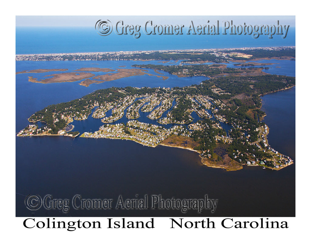 Aerial Photo of Colington Island, North Carolina