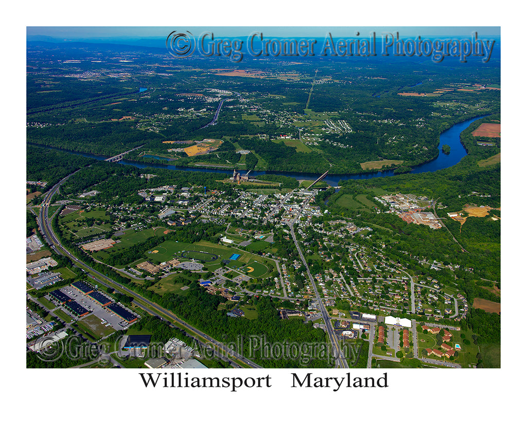 Aerial Photo of Williamsport, Maryland