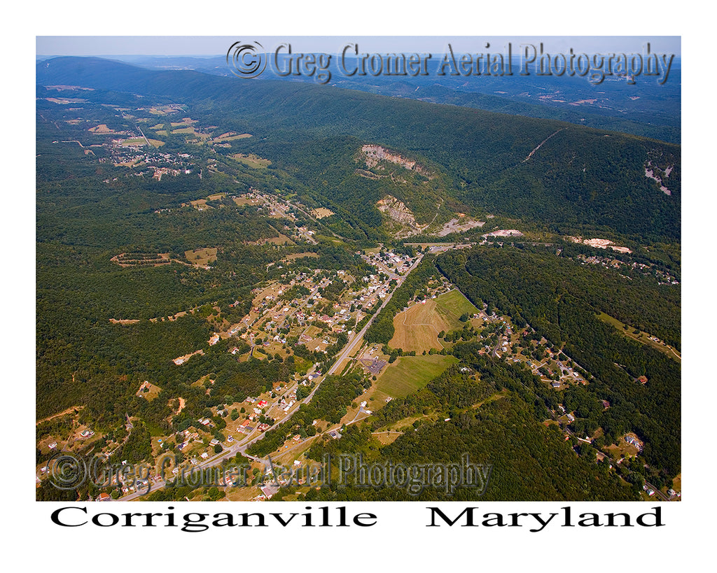 Aerial Photo of Corriganville, Maryland