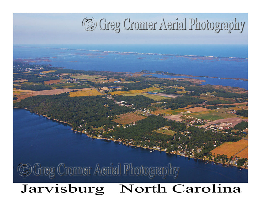 Aerial Photo of Jarvisburg, North Carolina
