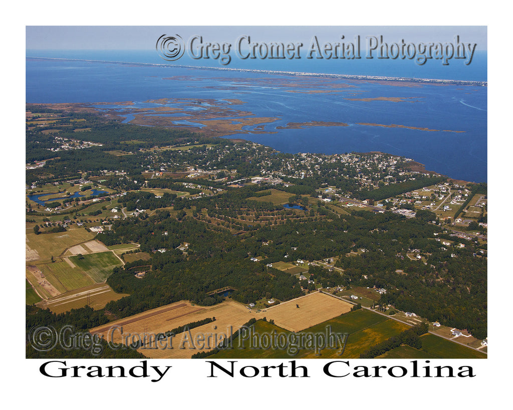 Aerial Photo of Grandy, North Carolina