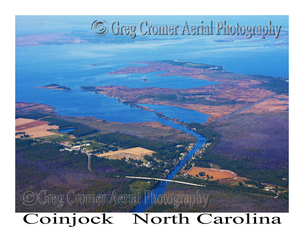 Aerial Photo of Coinjock, North Carolina