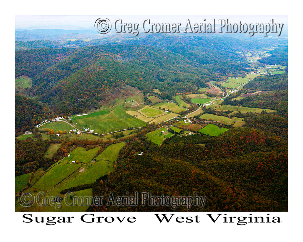 Aerial Photo of Sugar Grove, West Virginia