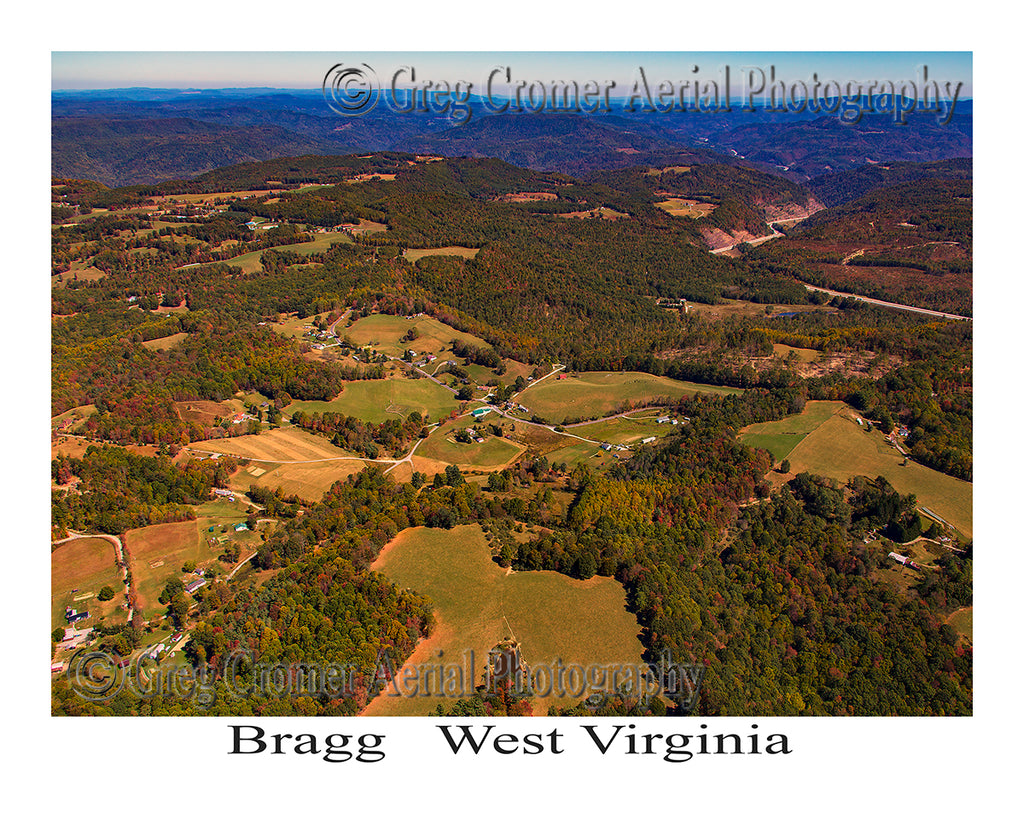 Aerial Photo of Bragg, West Virginia