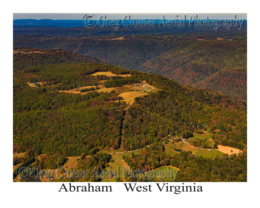 Aerial Photo of Abraham, West Virginia