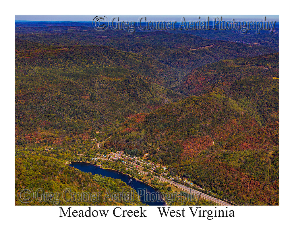 Aerial Photo of Meadow Creek, West Virginia