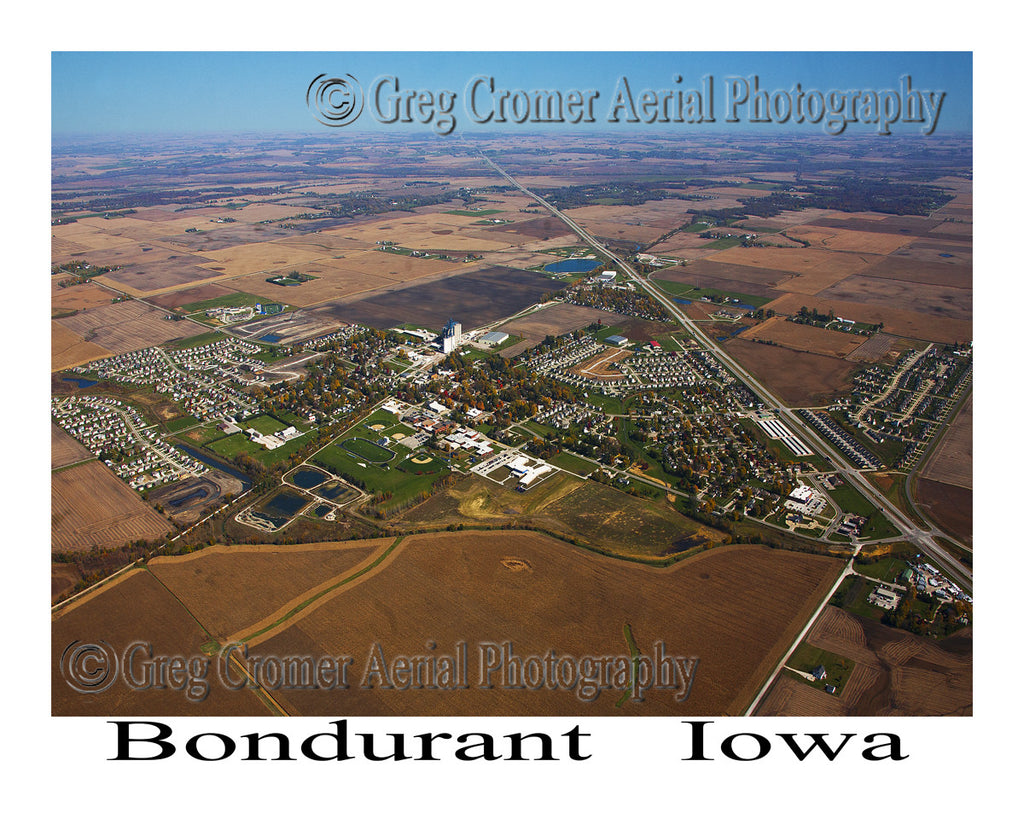 Aerial Photo of Bondurant Iowa