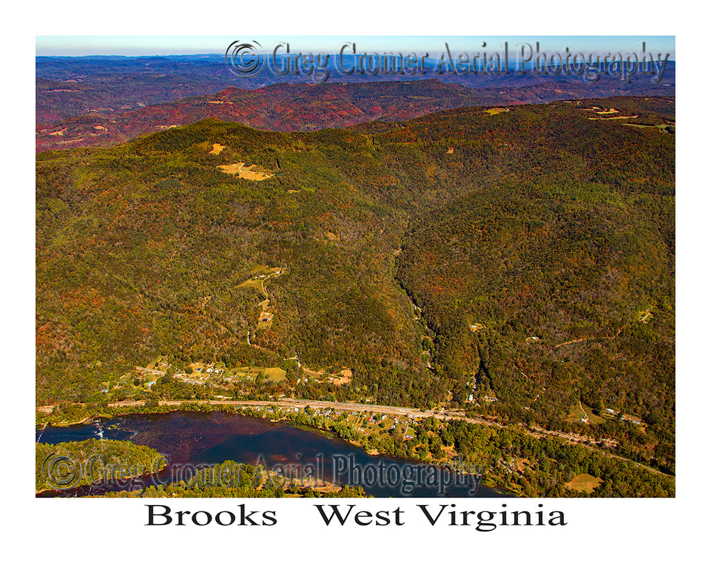 Aerial Photo of Brooks, West Virginia