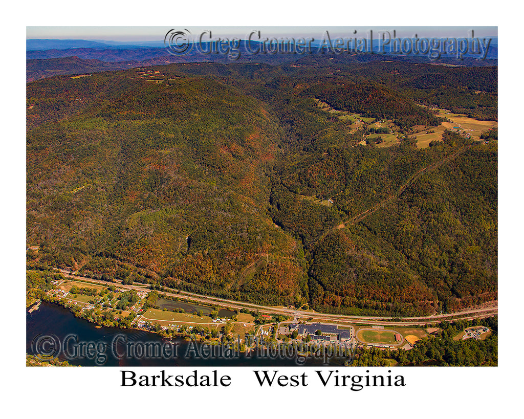 Aerial Photo of Barksdale, West Virginia