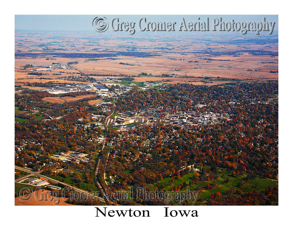 Aerial Photo of Newton Iowa
