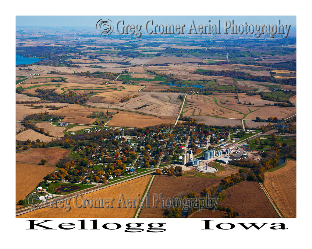 Aerial Photo of Kellogg, Iowa