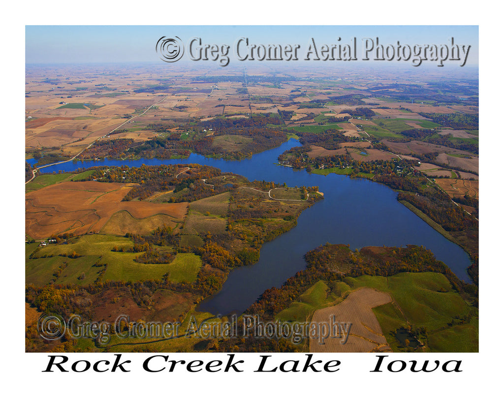 Aerial Photo of Rock Creek Lake Iowa