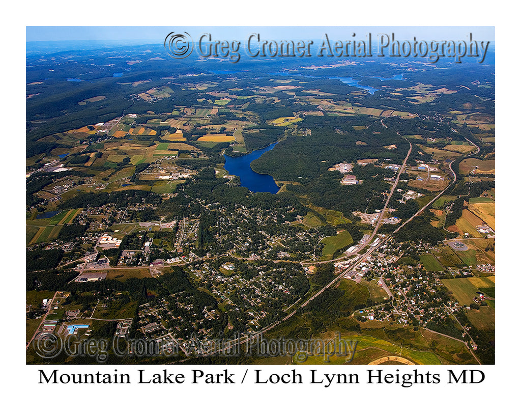 Aerial Photo of Mountain Lake Park, Maryland