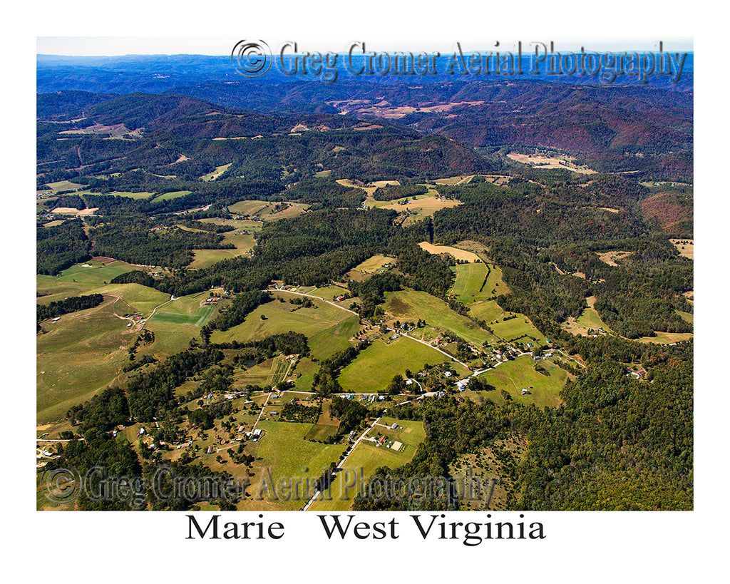 Aerial Photo of Marie, West Virginia