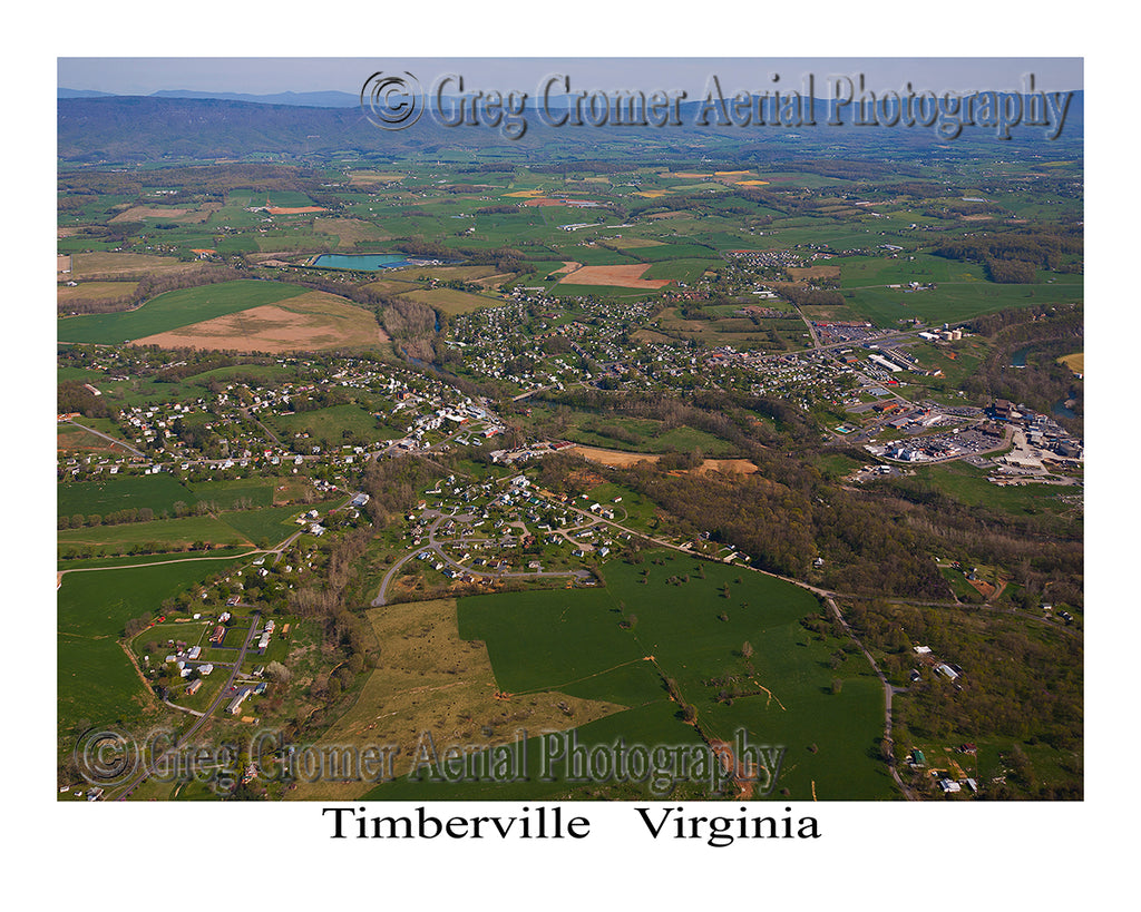 Aerial Photo of Timberville, Virginia