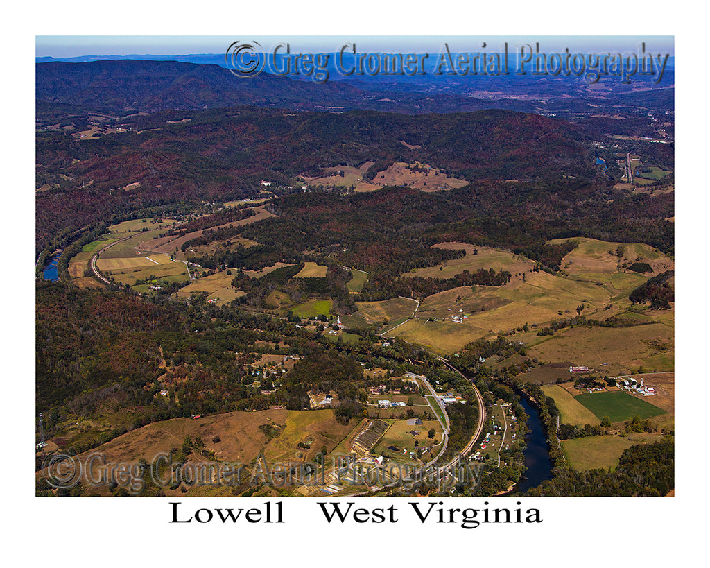 Aerial Photo of Lowell, West Virginia