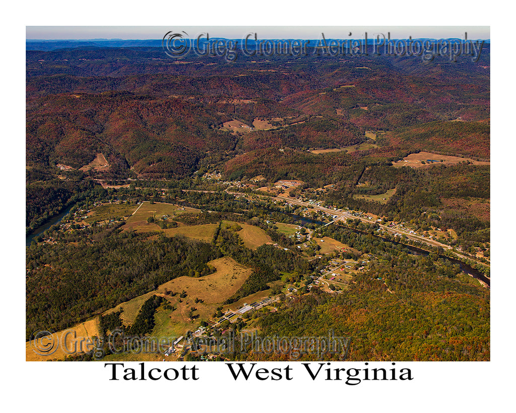 Aerial Photo of Talcott, West Virginia