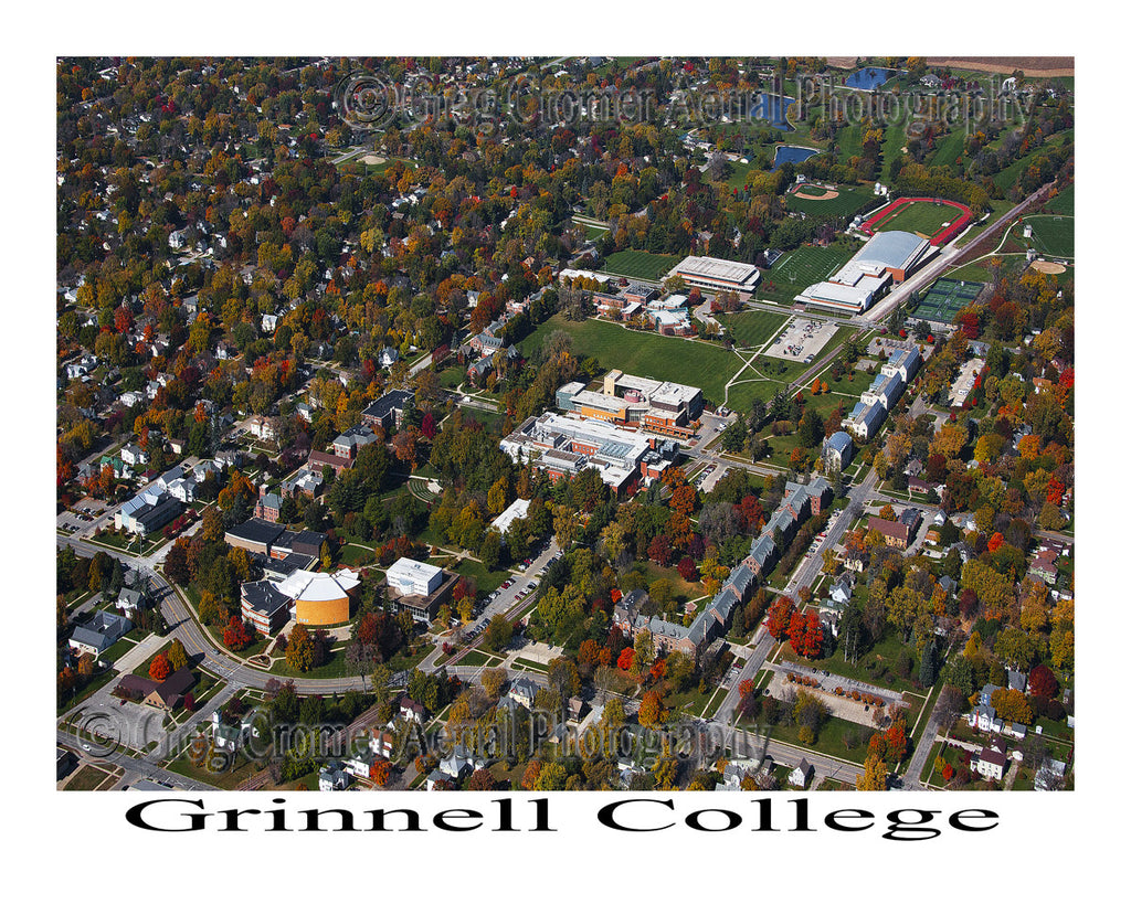Aerial Photo of Grinnell College, Grinell Iowa