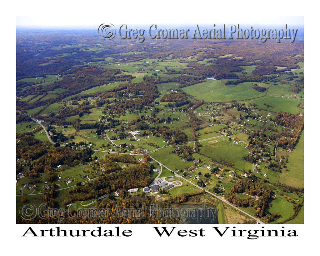 Aerial Photo of Arthurdale, West Virginia