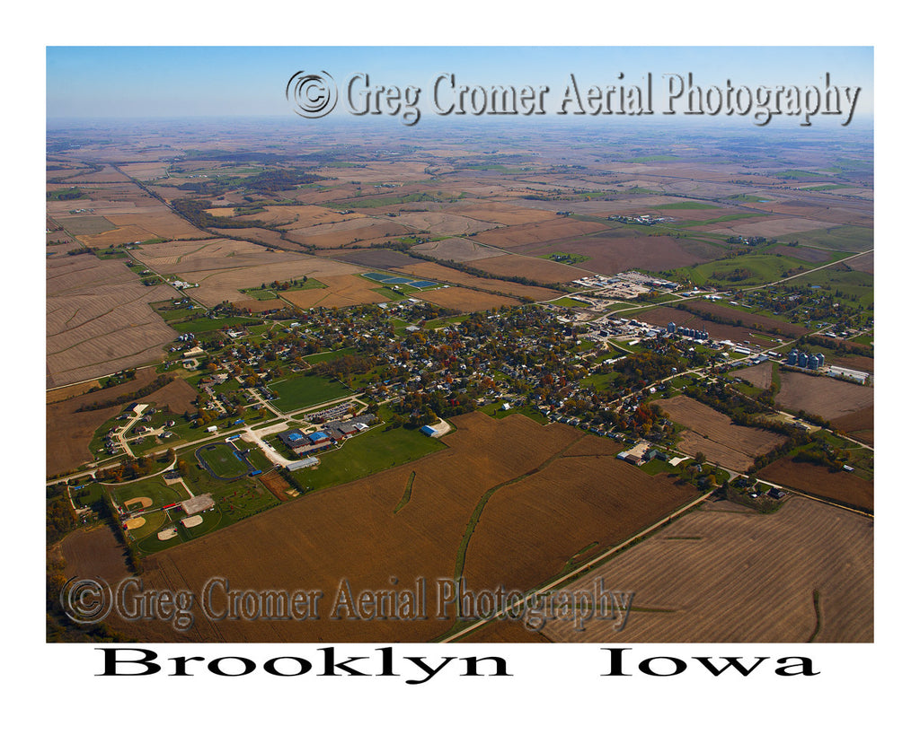Aerial Photo of Brooklyn Iowa