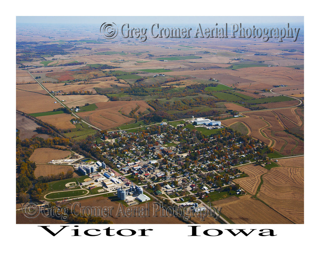 Aerial Photo of Victor Iowa