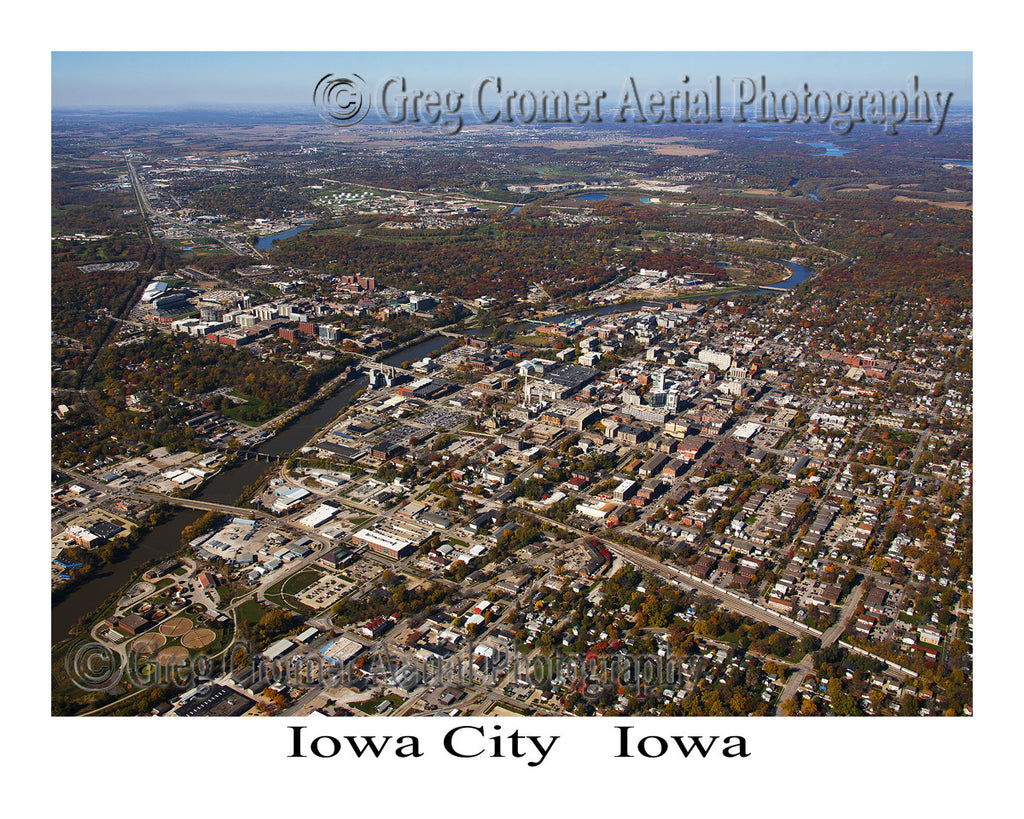 Aerial Photo of Iowa City Iowa