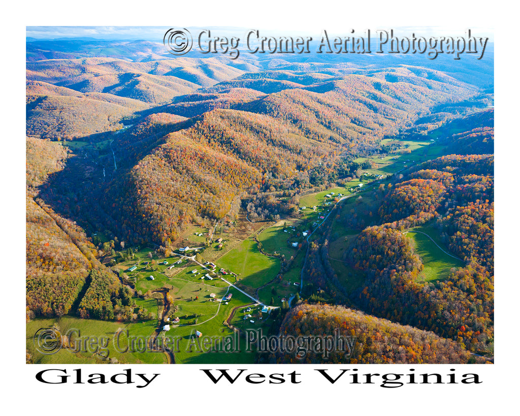 Aerial Photo of Glady, West Virginia