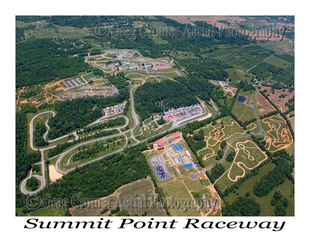 Aerial Photo of Summit Point Raceway, West Virginia
