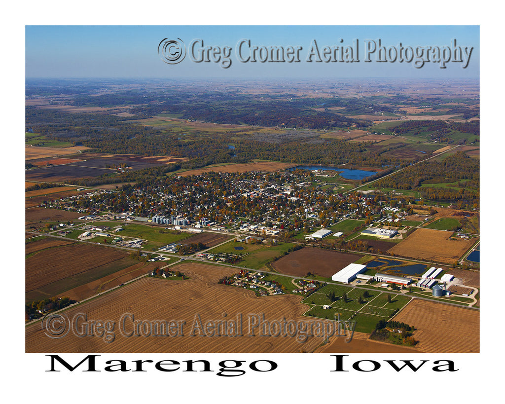 Aerial Photo of Marengo Iowa