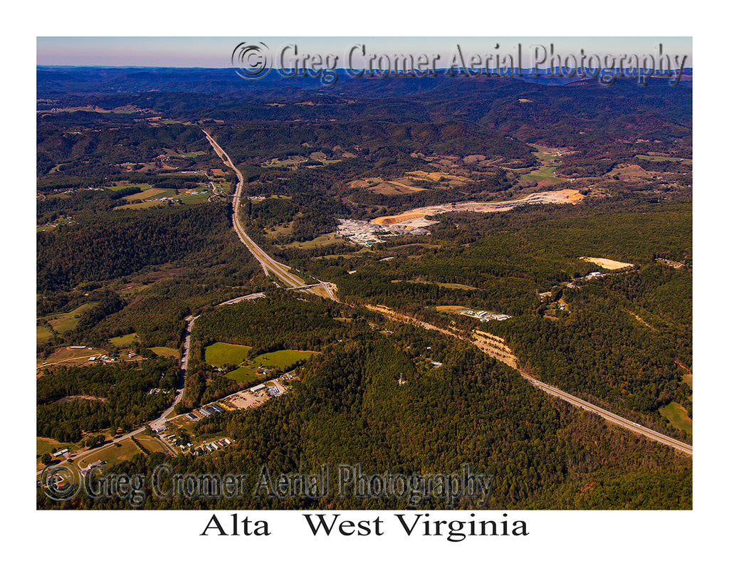 Aerial Photo of Alta, West Virginia
