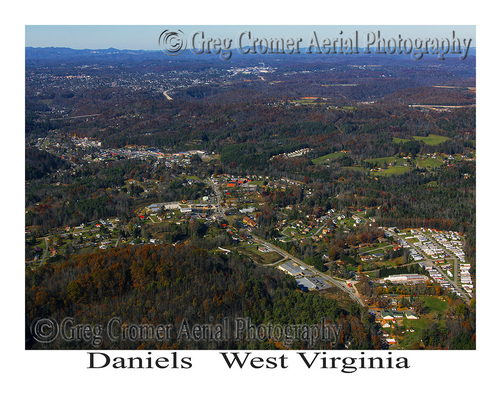 Aerial Photo of Daniels, West Virginia