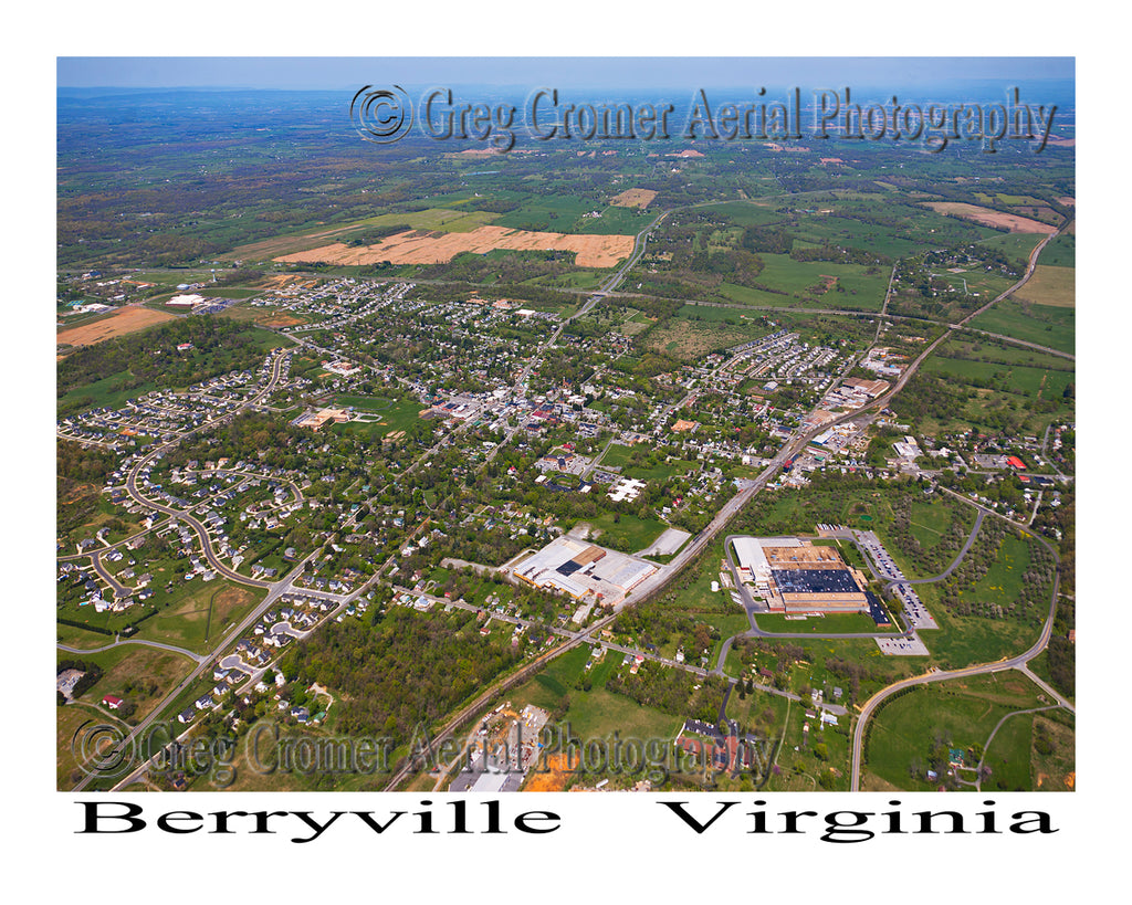 Aerial Photo of Berryville, Virginia