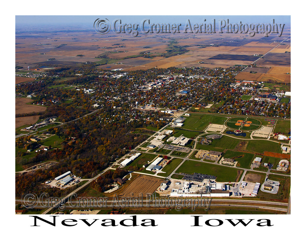 Aerial Photo of Nevada Iowa