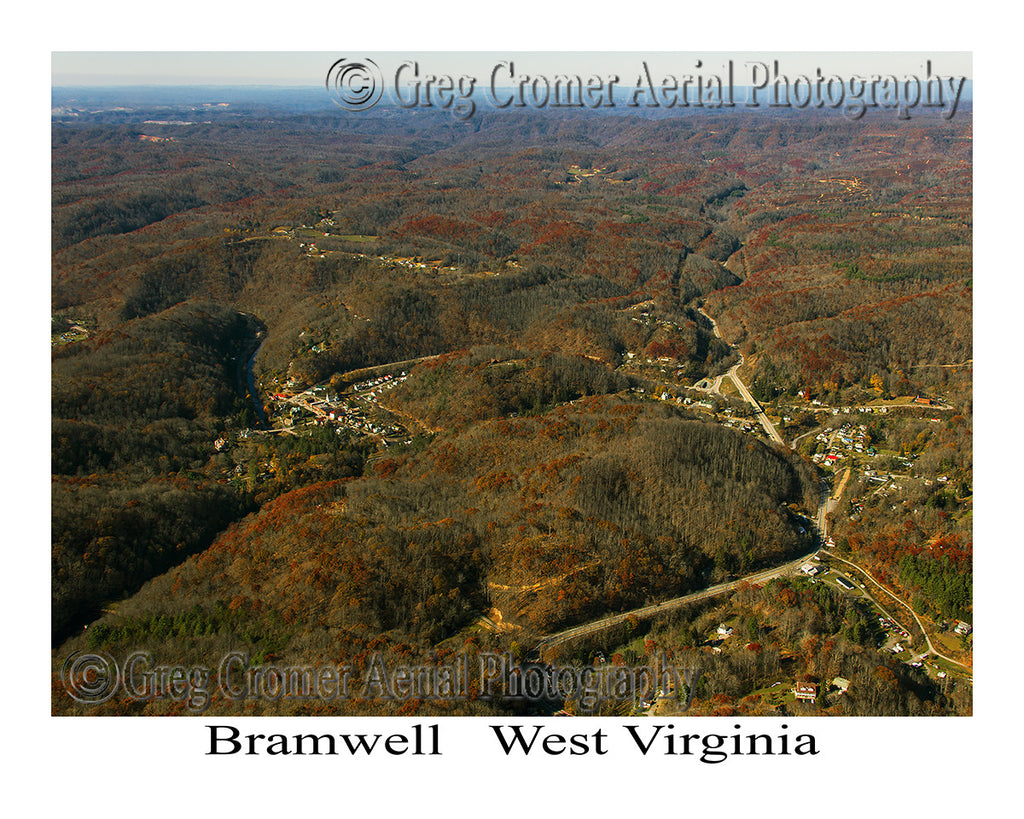 Aerial Photo of Bramwell, West Virginia