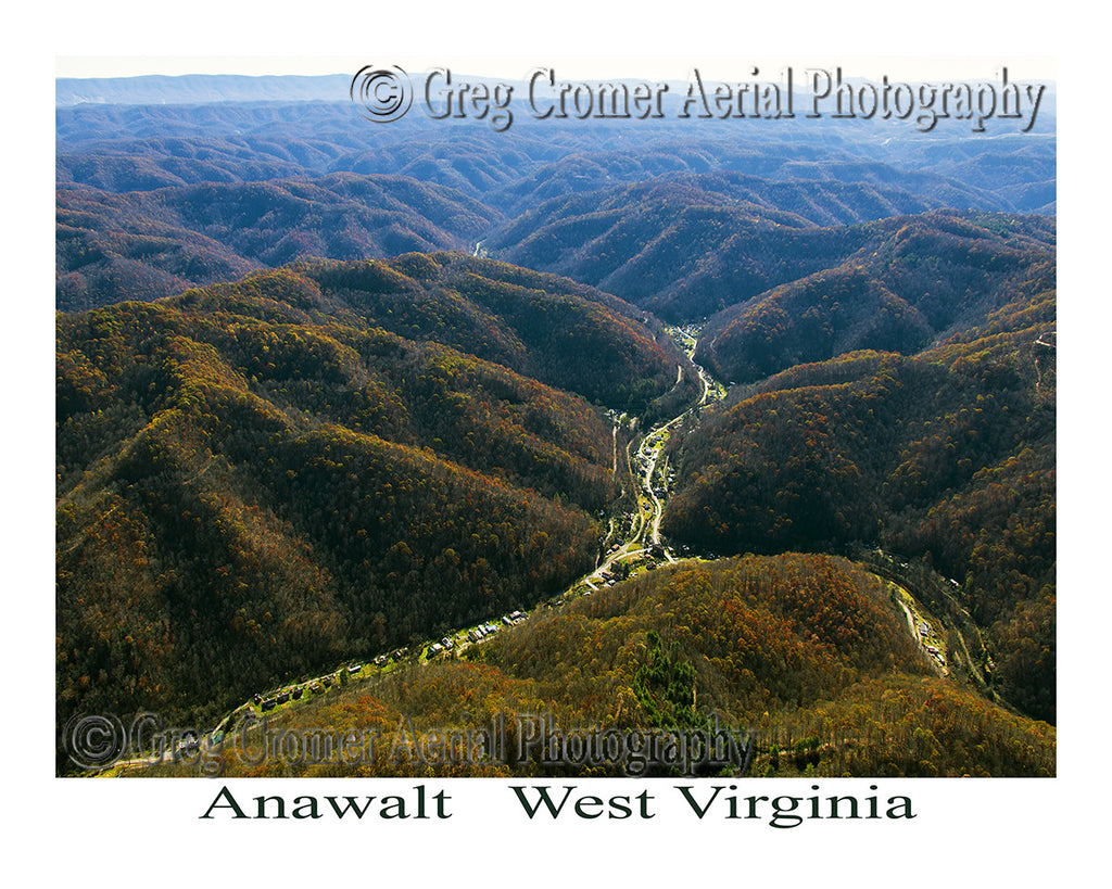 Aerial Photo of Anawalt, West Virginia