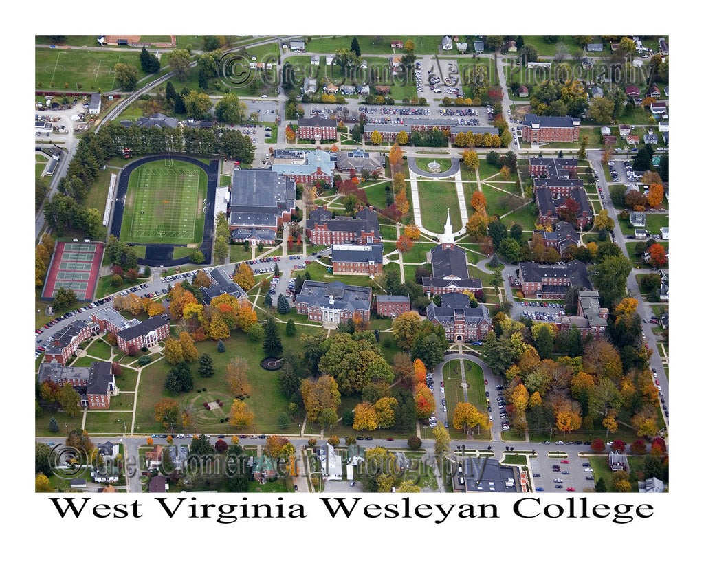 Aerial Photo of West Virginia Wesleyan College, Buckhannon, West Virginia