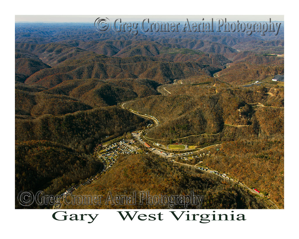 Aerial Photo of Gary, West Virginia