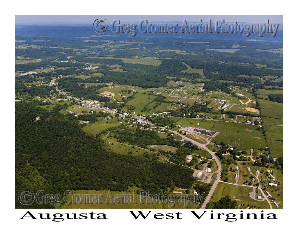 Aerial Photo of Augusta, West Virginia