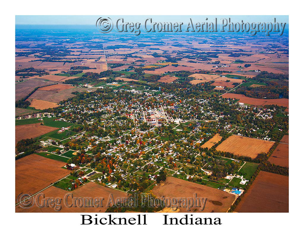 Aerial Photo of Bicknell, Indiana