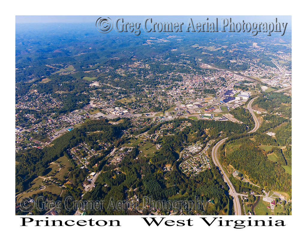 Aerial Photo of Princeton, West Virginia