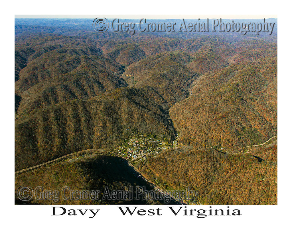 Aerial Photo of Davy, West Virginia -Wide Angle