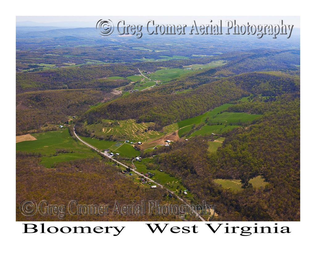 Aerial Photo of Bloomery, West Virginia