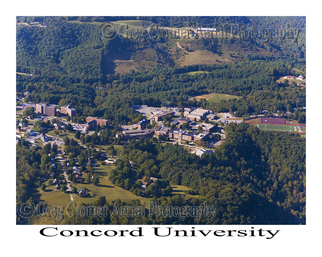 Aerial Photo of Concord University - Athens, West Virginia