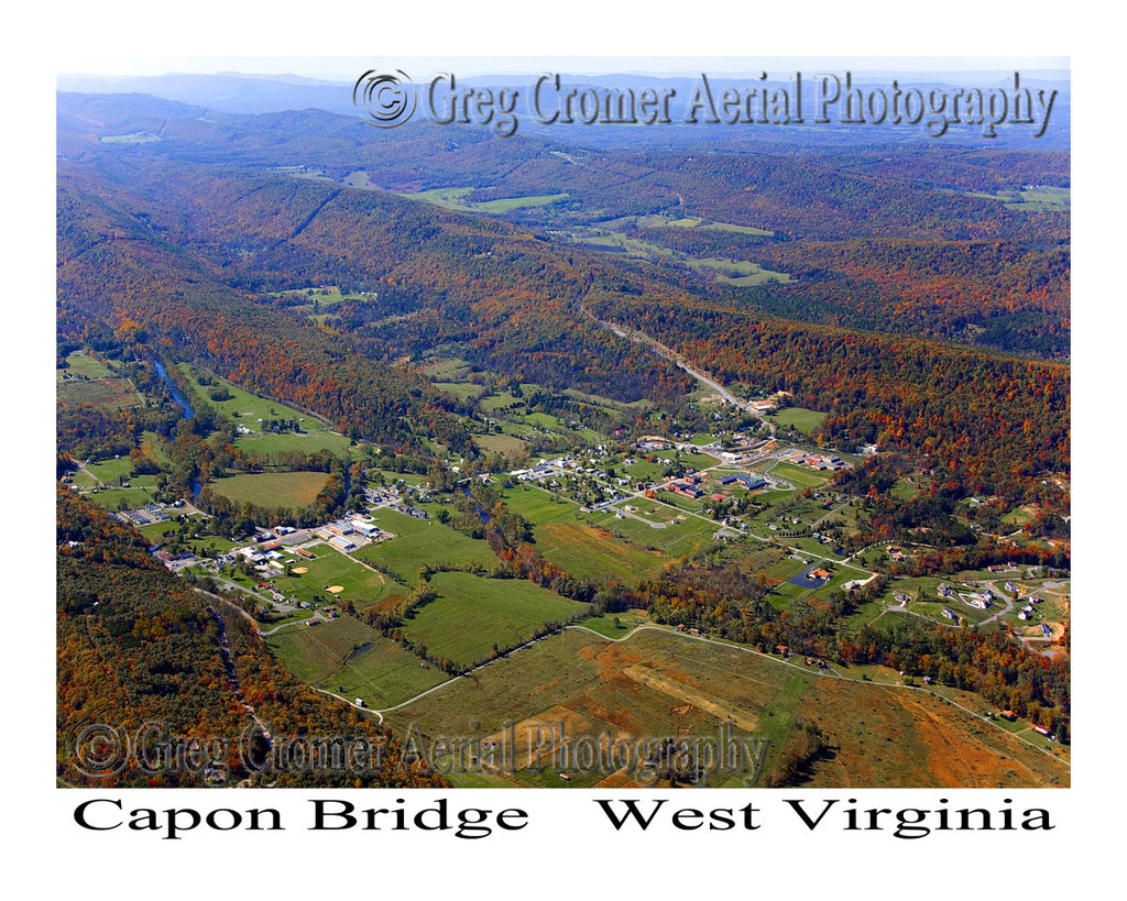 Aerial Photo of Capon Bridge, West Virginia