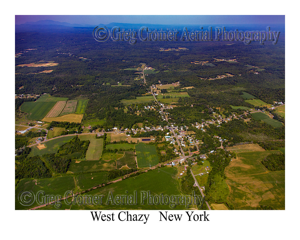 Aerial Photo of West Chazy, New York